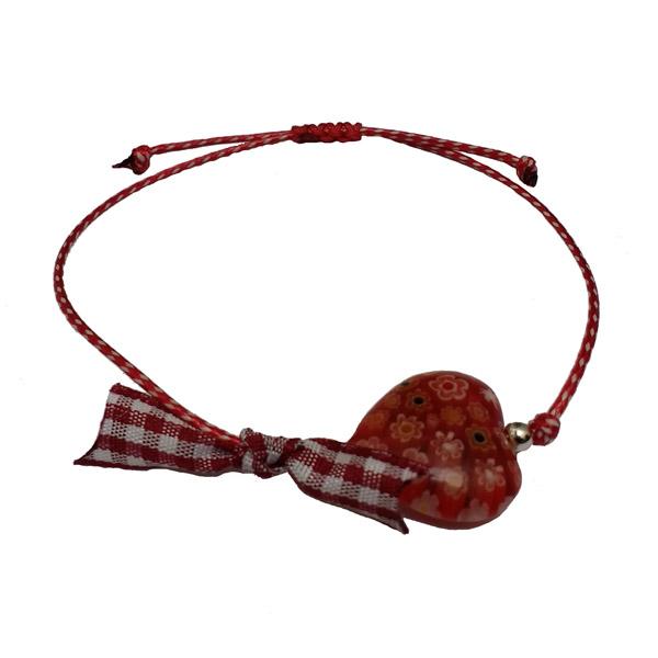 Jt Ασημένιο βραχιόλι Μάρτης καρδιά