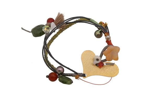 Krini Ασημένιο βραχιόλι καρδιά με μαργαριτάρια, Swarovski