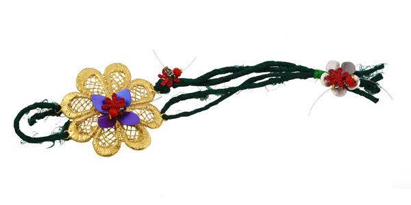 Krini Χειροποίητο ασημένιο βραχιόλι λουλούδι από μπρούτζο