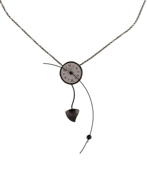 Krini Aσημένιο κολιέ vintage ρολόι σε ψιλή αλυσίδα
