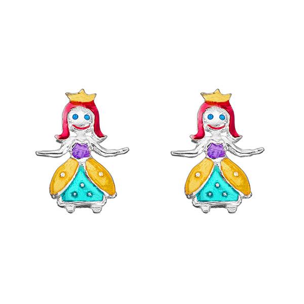 Onirolithi Ασημένια καρφωτά σκουλαρίκια πριγκίπισσα