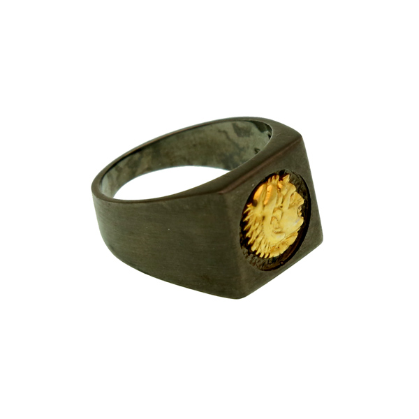 Jt Ανδρικό δαχτυλίδι κεφαλή Μεγάλου Αλεξάνδρου