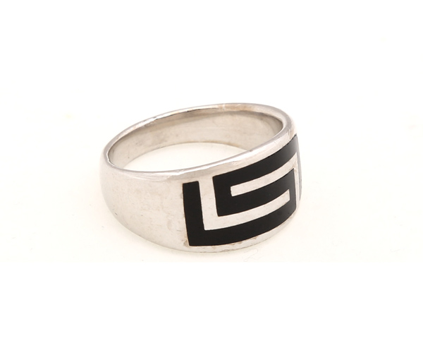 Jt Ανδρικό ασημένιο δαχτυλίδι Μαίανδρος