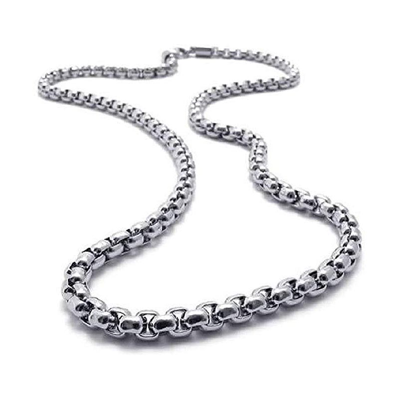 Jt Ατσάλινη ανδρική αλυσίδα λαιμού chain πλεκτή 3mm