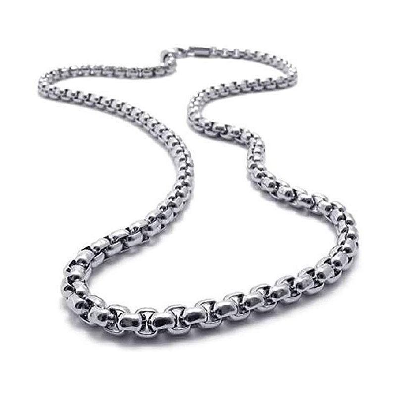 Jt Unisex αλυσίδα λαιμού chain ατσάλι πλεκτή 3mm
