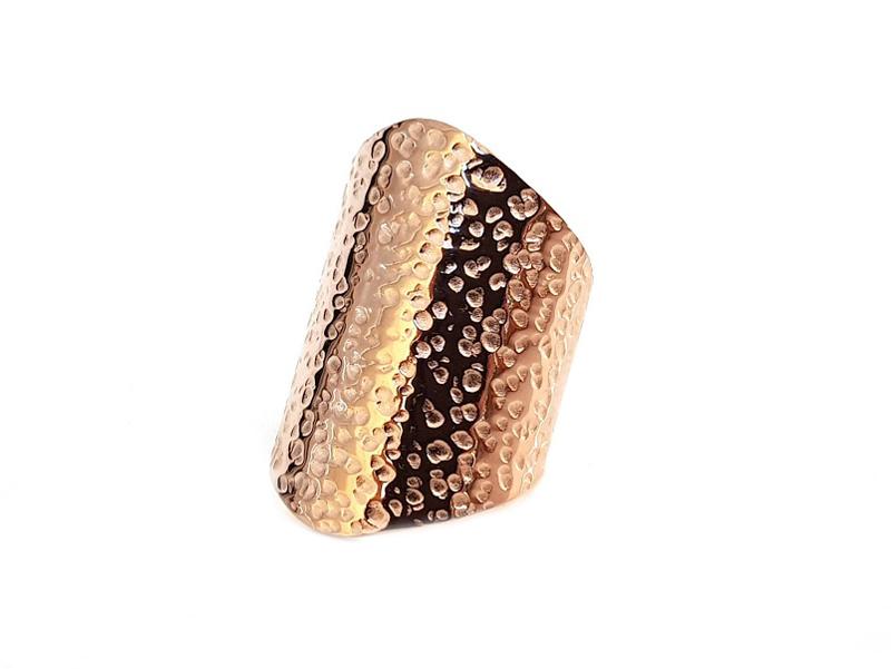 Mc Ροζ ατσάλινο πλατύ σφυρήλατο δαχτυλίδι