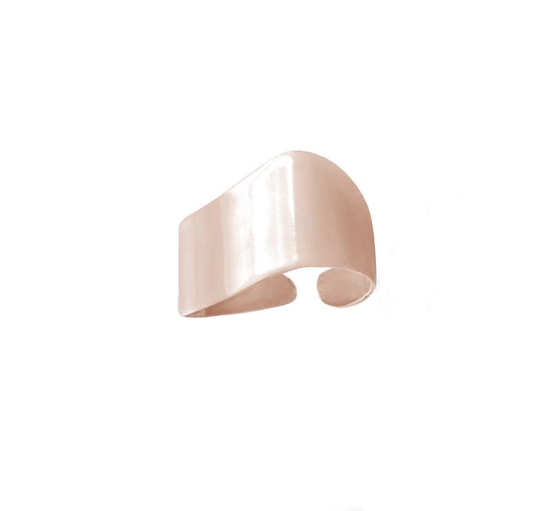 Mc Ροζ ατσάλινο δαχτυλίδι σωλήνας σεβαλιέ με καμπύλες